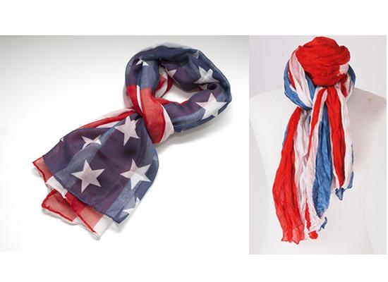Nieuwe modetrend: Flag shawl USA of UK van u20ac21,95 voor u20ac8